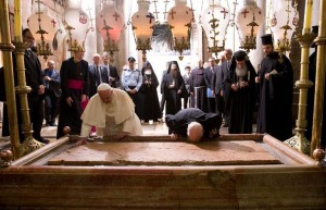 Pope Patriarch bowing
