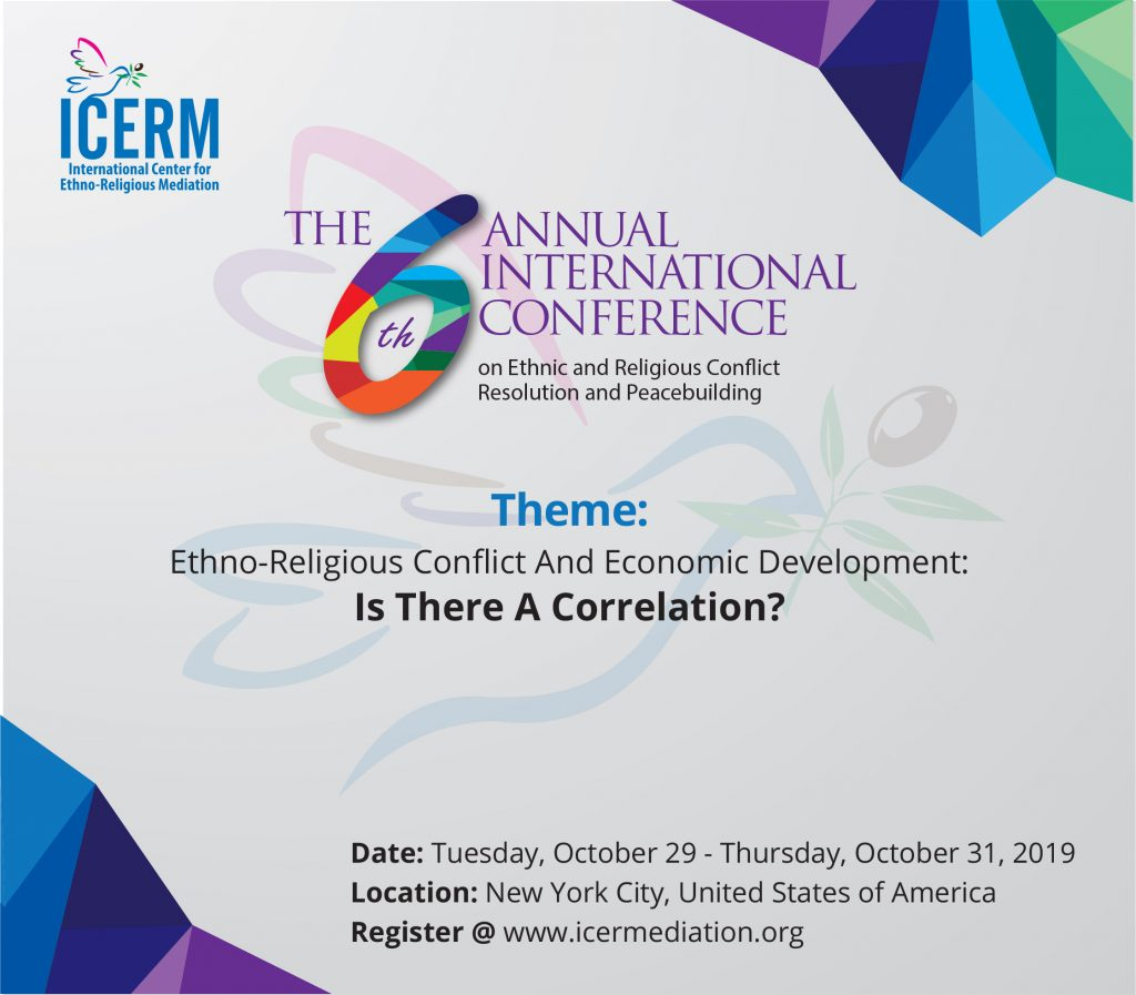 new concept 678db 2c0e1 2019 Annual International Conference on Ethnic and Religious Conflict  Resolution and Peacebuilding